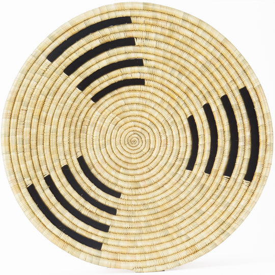 The Roaming Chair wall plate African Woven Wall Basket Zungusha Black
