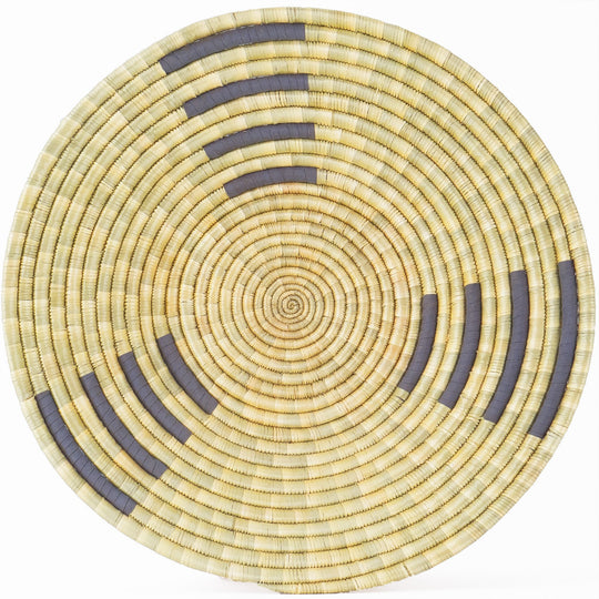 The Roaming Chair wall plate African Woven Wall Basket Zungusha Grey