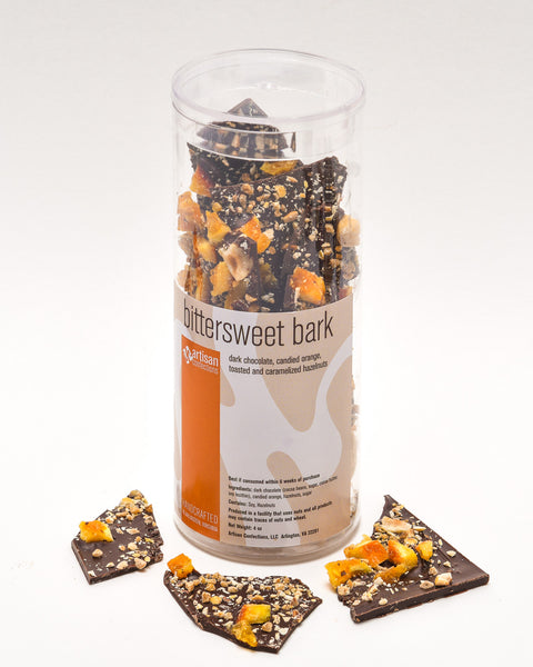 Bittersweet Bark with Candied Orange & Hazelnuts