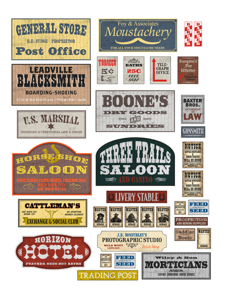 Western Signs - FREE - Downloadable .pdf