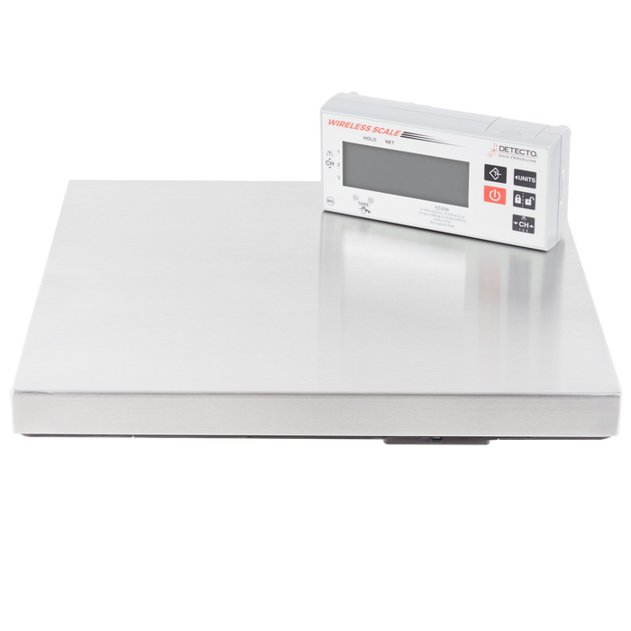 Cardinal Detecto PZ30W 30 lb. Stainless Steel Pizza Scale with Wireless Digital Display and Touchless Tare