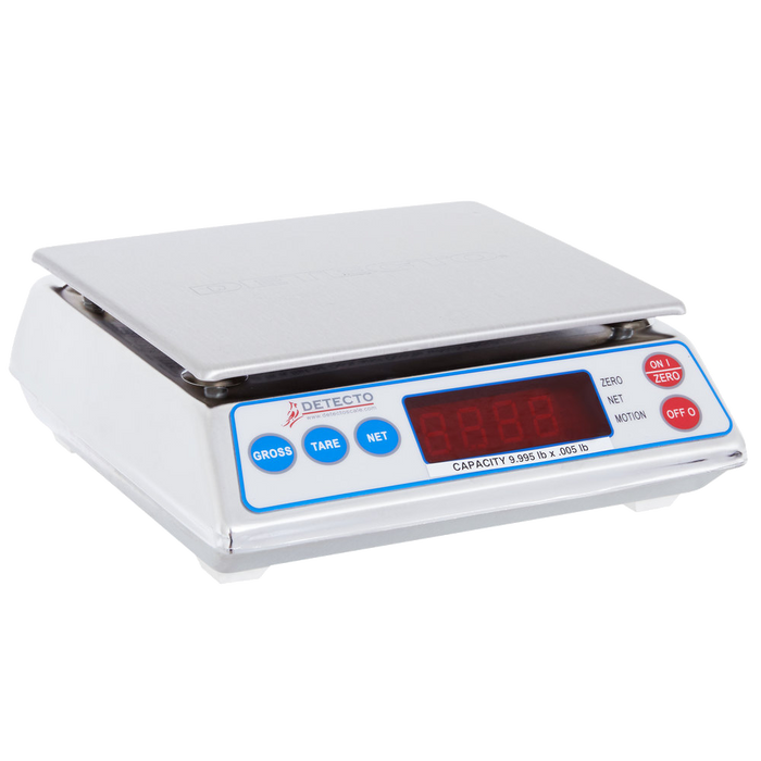 Cardinal Detecto AP-10 10 lb. Digital All-Purpose Portion Control Scale, Legal for Trade