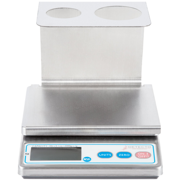 Cardinal Detecto PS4 4 lb. Electronic Portion Scale with Removable Dual Cone Holder Tray