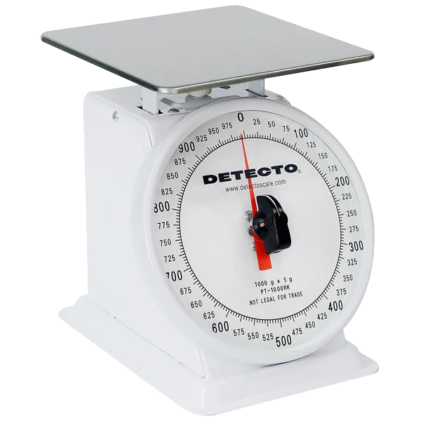 Cardinal Detecto PT-1000RK 1000 g. Mechanical Portion Control Scale with Rotating Dial
