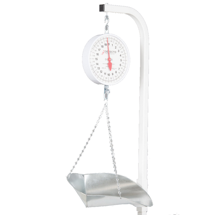 Cardinal Detecto 40 lb. Hanging Scoop Scale with Dual-Faced Dial and Portable Stand