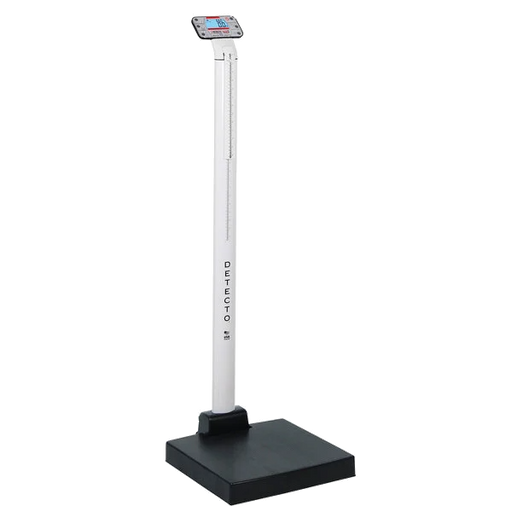 Cardinal Detecto APEX 600 lb. Eye-Level Digital Clinical Scale with Mechanical Height Rod
