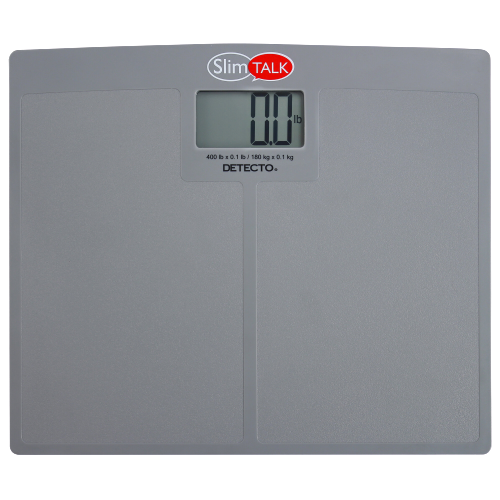 Cardinal Detecto SlimTALK 440 lb. Low-Profile Bilingual Talking Digital Scale