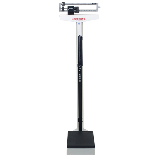 Cardinal Detecto 339 400 lb. / 175 kg Eye-Level Mechanical Beam Physicians Scale with Height Rod