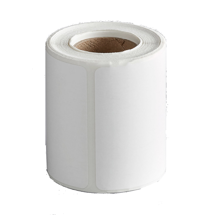 Cardinal Detecto 6600-0200 White Blank Equivalent Permanent Direct Thermal Label - 185/Roll
