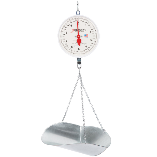 Cardinal Detecto MCS-20DP 20 lb. Hanging Scoop Scale with Double Dial
