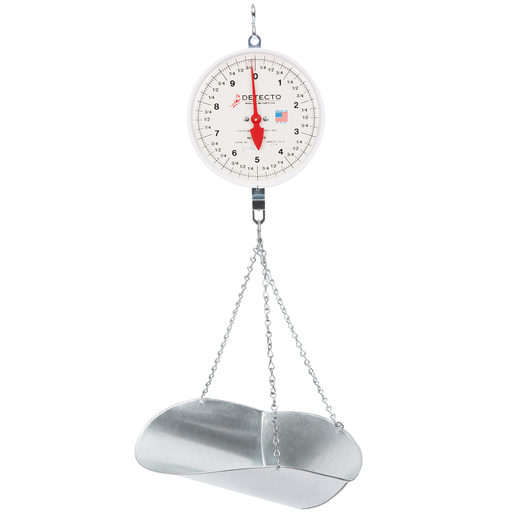 Cardinal Detecto 20 lb. Hanging Scoop Scale with Double Dial and Stand Kit