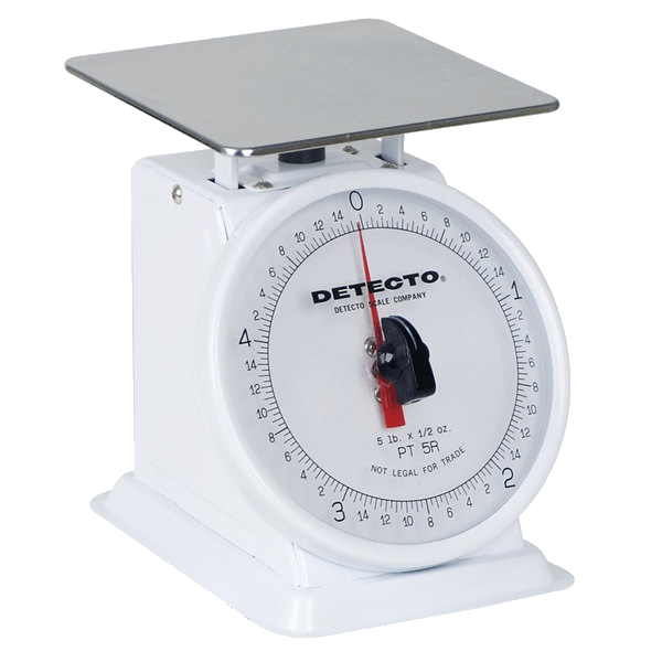 Cardinal Detecto PT-5R 5 lb. Mechanical Portion Control Scale with Rotating Dial