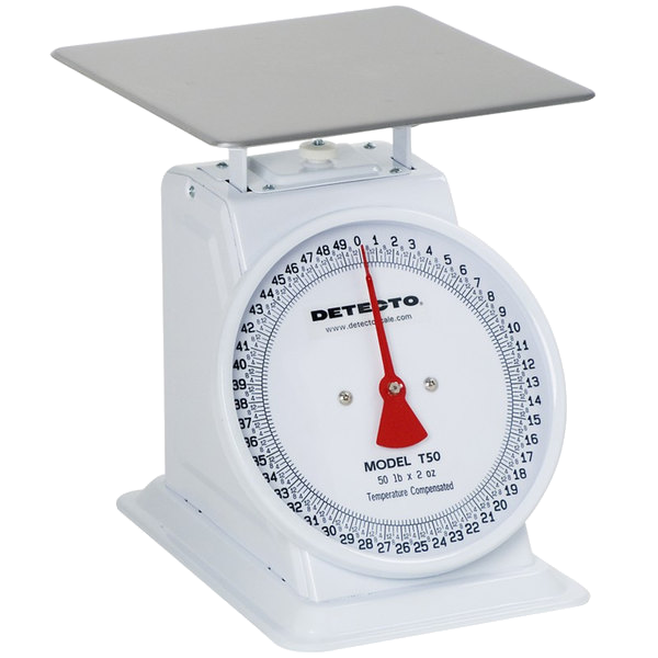Cardinal Detecto T100 100 lb. Mechanical Portion Control Dial Scale