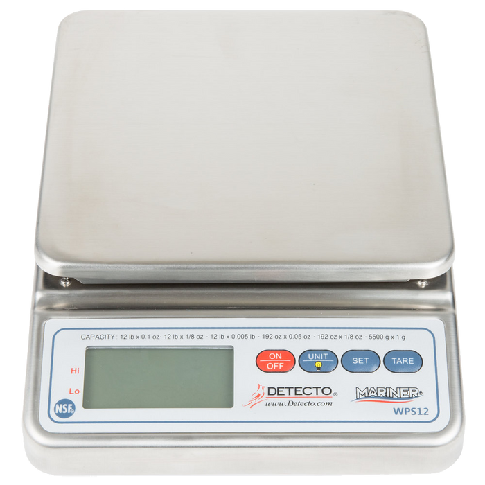 Cardinal Detecto WPS12 12 lb. Waterproof Digital Portion Control Scale
