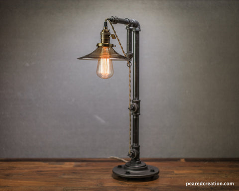 Industrial Furniture - Table Lamp - Edison Bulb Lamp - Lamp Vintage - Industrial Lighting - Modern Lighting - Iron Pipe - Barn Light