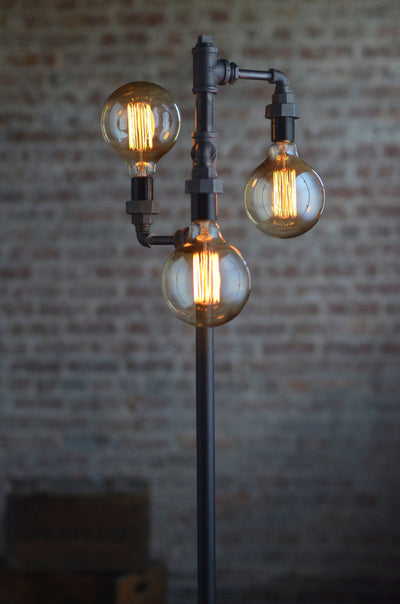 Edison Bulb Floor Lamp - Industrial Furniture - Standing Light - Filament Bulb - Bare Bulb Floor Light - Tree Lamp