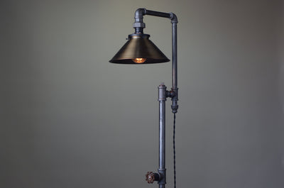 Antique Brass Floor Lamp - Industrial Furniture - Floor Lighting - Modern Floor Lamp - Industrial Floor Lamp