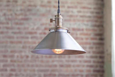 Pendant Lights - Metal Shade -  Hanging Pendant Light - Industrial Shade Pendant