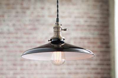 Pendant Lights - Metal Shade -  Hanging Pendant Light - Industrial Shade Pendant - Modern
