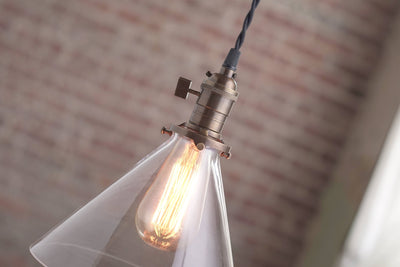 Modern Pendant Light - Glass Shade - Edison Bulb Pendant - Hanging Light Fixtures - Pendant Lamp - Pendants - Model No. 6621