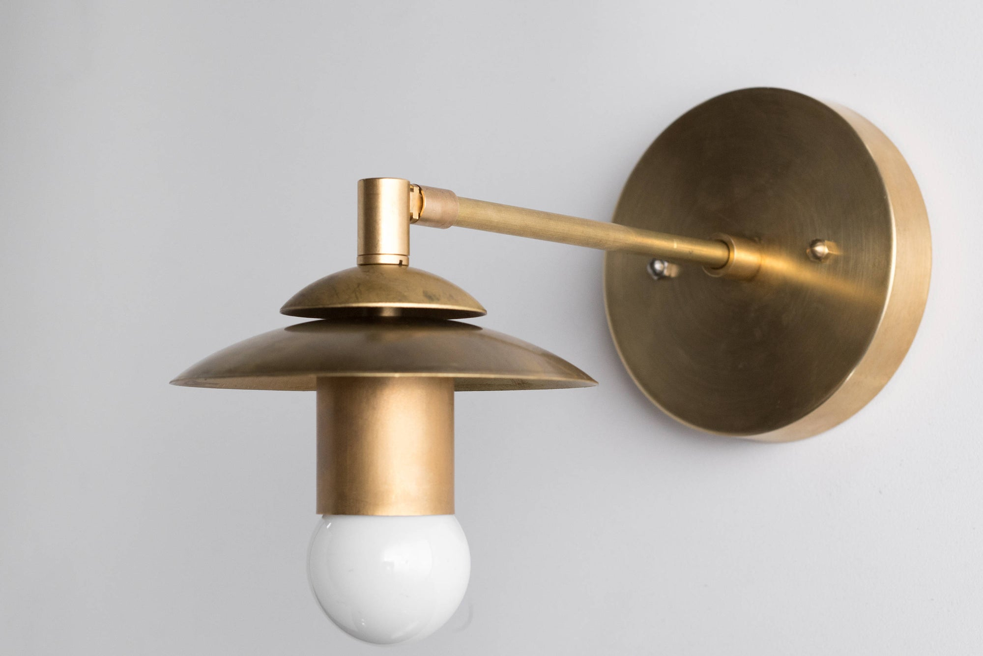 best service dd761 46fc4 Brass Sconce - Rustic Wall Sconce - Modern Wall Light - Gold Sconces - Mid  Century Sconce