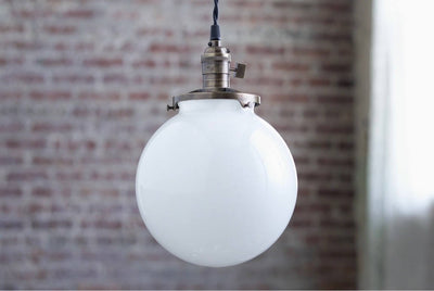 Pendant Lights - Globe Pendant -  Hanging Pendant Light - Industrial Shade Pendant - Edison Pendant - Mod - Model No. 1835