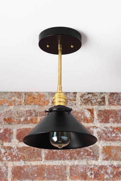 Modern Hanging Lamp - Kitchen Island Light - Metal Hanging Lamp - Industrial Chic Lamp - Brass Ceiling Light - Model No. 3276