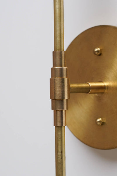 Brass Sconce Light - Wall Sconce - Modern Sconces - Gold Wall Light - Mid-Century Modern Sconce - Model No. 9053