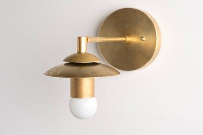 Brass Sconce - Rustic Wall Sconce - Modern Wall Light - Gold Sconces - Mid Century Sconce