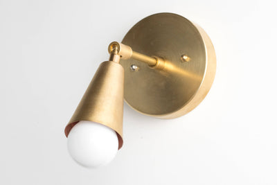 Mid Century Sconce - Modern Wall Lamp -  Gold Sconces - Wall Lights - Brass Wall Fixture - Model No. 4339