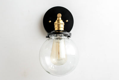 Modern Farmhouse Wall Sconces - Brass Sconce Light -  Edison Wall Lighting - Mid Century Modern - Model No. 5456