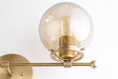 Modern Wall Sconce - Brass Sconce Lights - Mid Century Modern - Edison Bulb Light - Gold Sconces - Model No. 4353