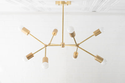 Geometric Lamp - Modern Brass Chandelier - Ceiling Fixture - Gold Chandeliers - Model No. 5056