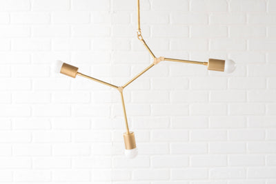 Mobile Chandelier - Brass Lighting - Geometric Light Fixture - Ceiling Lights - Gold Chandeliers - Modern Hanging Lamp - Model No. 3376