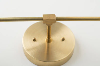 Vanity Lighting Home - Brass Bathroom Light - Mid Century Bathroom -brass sconce light