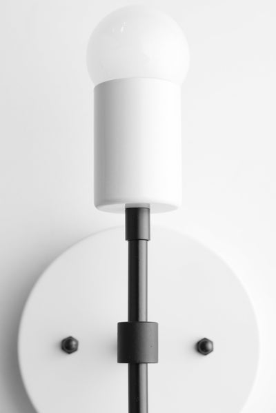 White Wall Sconce - White Lighting - Mid Century Lighting - Black White Light - Wall Sconce - Midcentury Modern - Model No. 5550
