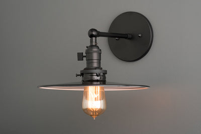 Industrial Wall Lamp - Black Sconce - Edison Bulb - Bedside Lamp - Light Fixtures