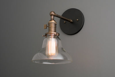 Edison Bulb Sconce - Mirror Light - Glass Shade - Wall Lighting - Industrial