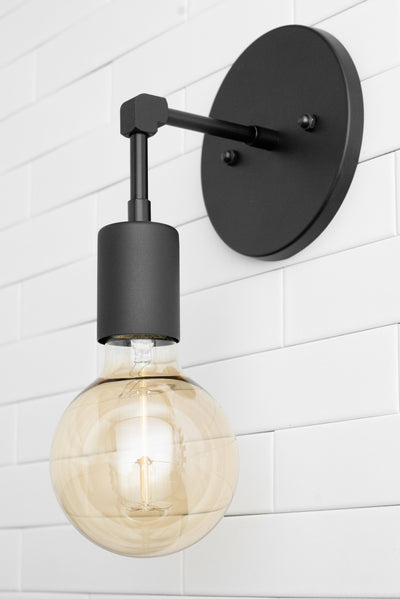 Wall Sconce - Industrial Sconce - Wall Light - Minimalist Light - Sconces - Edison Bulb - Silver Lighting - Industrial Light - Lighting