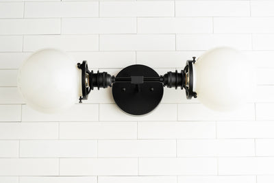 Black Vanity Light - Industrial Lighting - Industrial Vanity - Wall Light Fixture - Industrial Bathroom - Wall Lamp - Model No. 2997