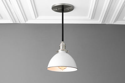 Hanging Lamp - Kitchen Lighting - Ceiling Light - Farmhouse Lighting - Lighting - White Shade - Drop Light - Island Light - Light Fixture