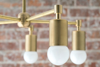 Modern Chandeliers - Industrial Hanging Light - Brass Ceiling Lamp - Industrial Chic Lamp - Model No. 8915