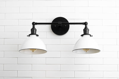 Wall Lighting - Vanity Light - Farmhouse Lighting - Bathroom Fixture - Wall Lamp - Black White Lighting - Adjustable Light - Lighting