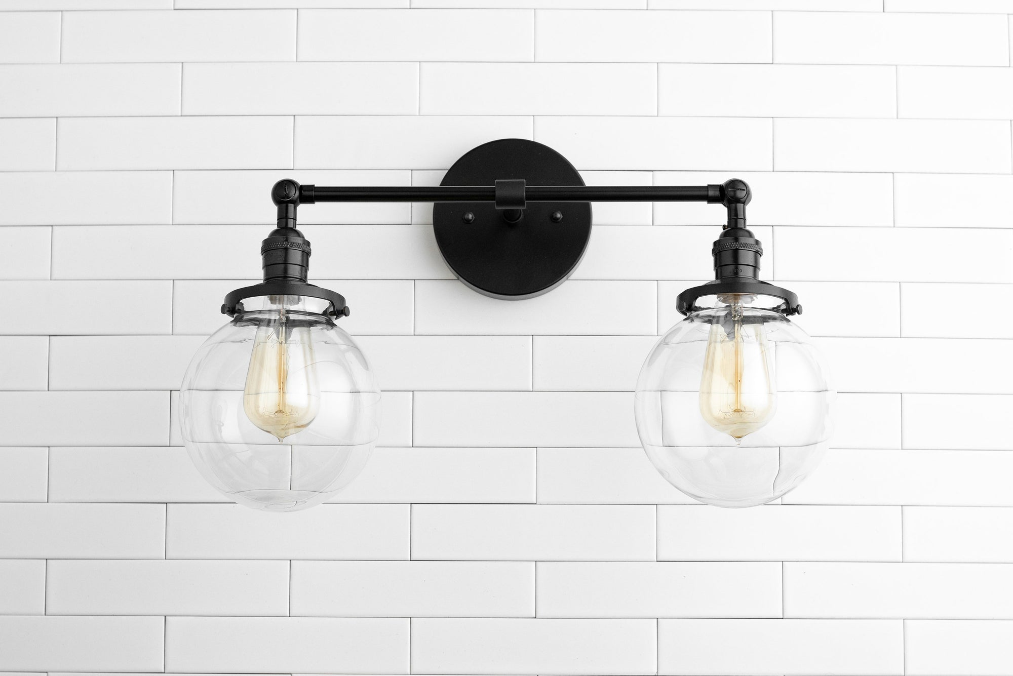 new concept fba2c 5faac Clear Globe Light - Globe Vanity Light - Black Light Fixture - Bathroom  Lighting - Farmhouse Light - Industrial Light - Vanity Lighting
