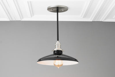 Black Ceiling Light - Ceiling Lamp - Industrial Lighting - Edison Light - Kitchen Lighting - Utility Lighting - Farmhouse Light - Lighting