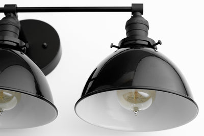 Bathroom Vanity Light - Farmhouse Lighting - Three Bulb Vanity - Black Vanity Light - Mirror Light - Modern Vanity Light - Model No. 6225