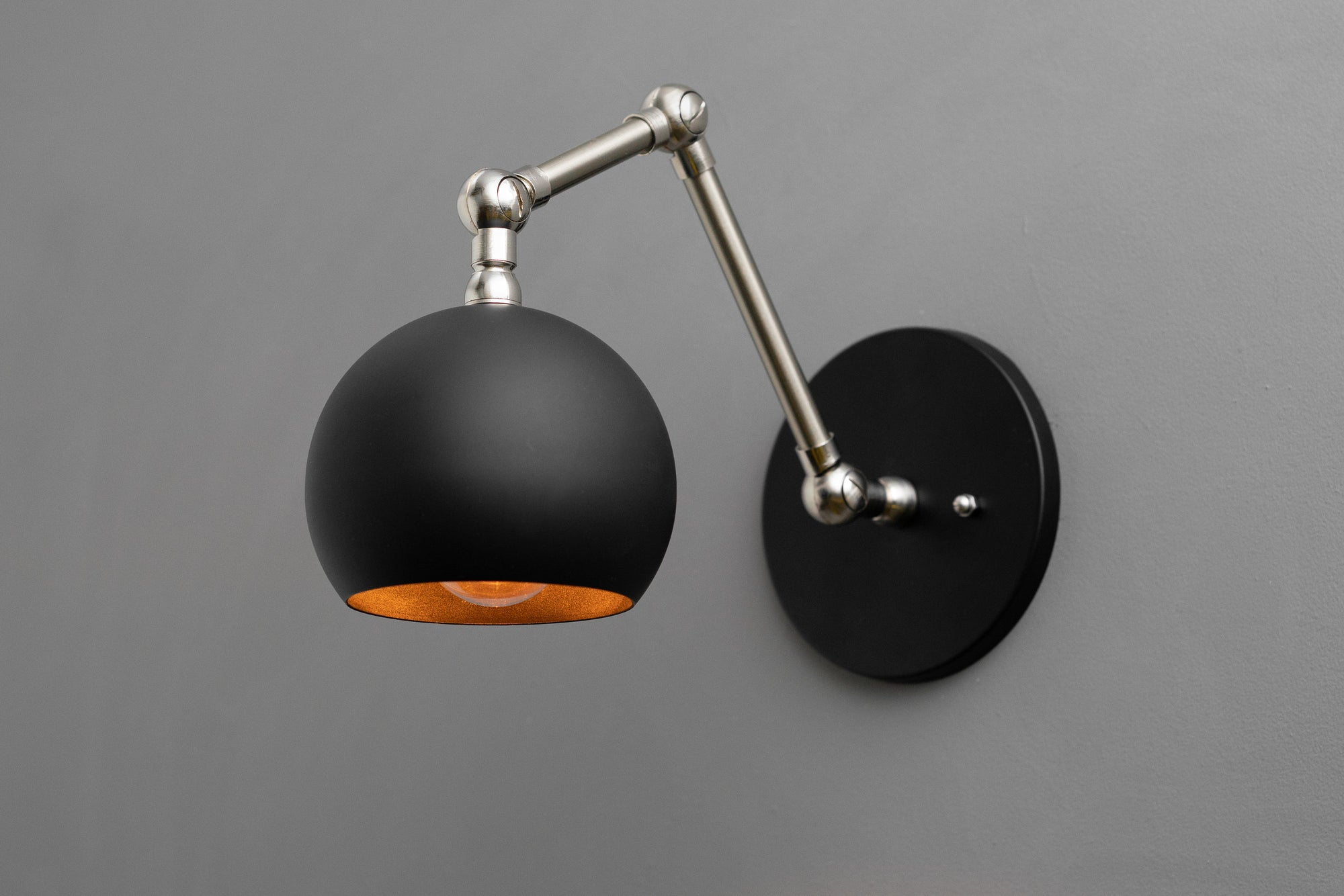 My Name Is Shade.Articulating Sconce Orb Shade Light Swivel Wall Light Light