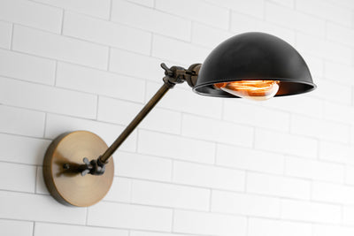 Parabolic Sconce - Wall Light Fixture - Directional Light - Articulating Sconce - Industrial Lighting - Wall Sconce - Bedside Wall Light