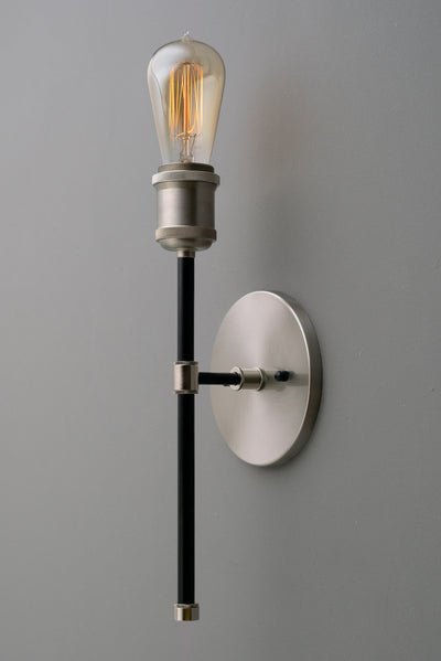 Wall Sconce Light - Industrial Lighting - Steampunk Light - Light Fixture - Wall Light - Brushed Nickel - Wallchiere - Shallow Canopy