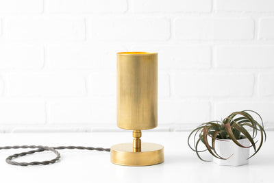 Accent Lamp - Adjustable Spotlight - Mid Century Lighting - Minimalist Lamp - Raw Brass Table Lamp - Black Table Lamp - Model No. 1764